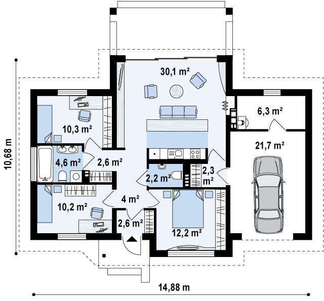 dom-drewniany-Z151_rzut